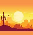 wild west american desert arizona prairie vector image vector image