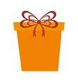 yellow gift box present vector image
