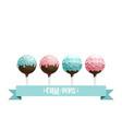 cake pops set vector image