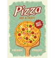 Pizza Retro Style Poster vector image