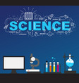 science laboratory with high technology vector image