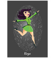 Zodiac horoscope sign Virgo with a beautiful girl vector image