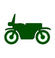 Motorcycle symbol icon on white vector image