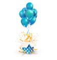 21th years celebrations greetings twenty one vector image vector image