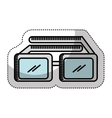 3d glasses isolated icon vector image vector image