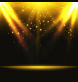 abstract background magic light with gold burst vector image vector image
