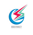 abstract power - concept business logo template vector image