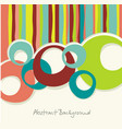 abstract retro background with stripes and vector image vector image