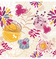 abstract seamless floral retro background vector image vector image