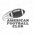 american football or rugby club badge vector image vector image