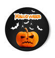 angry surprised halloween realistic black vector image vector image