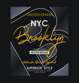 athletic nyc brooklyn typography design vector image vector image