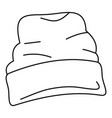 beanie hat icon outline style