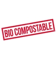 Bio Compostable rubber stamp vector image vector image