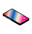 black smartphone isometric icon vector image vector image
