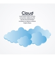 Blue and white design of cloud icon vector image vector image