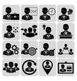 Business and management icons black vector image vector image