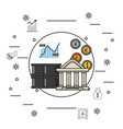 business money and investments vector image