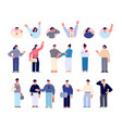 business people avatars emotional characters vector image vector image