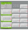 calendar 2016 - Planner for three month vector image