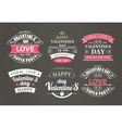 Calligraphic Design Elements Valentines Day vector image vector image