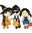 children on a holiday Halloween vector image