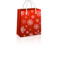 Christmas Red Shopping Bag vector image vector image