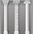 classic antique white columns in graphics vector image