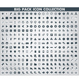 Collection of flat icons with long shadow vector image