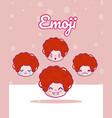 cute boys emojis vector image vector image