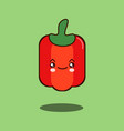 cute vegetable pepper cartoon character flat vector image