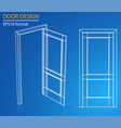 design and manufacture doors vector image