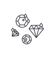 diamonds line icon concept diamonds linear vector image vector image