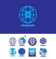 Eart globe global company logo vector image
