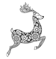 entangle reindeer for adult anti stress vector image