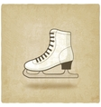 figure skate old background vector image
