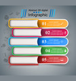 five color book - business infographic vector image vector image