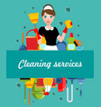 flat cleaning service poster vector image