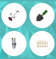 flat icon dacha set of grass-cutter wooden vector image vector image