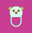 Flat icon design collection teddy bear bib vector image