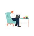 freelance art flat style design vector image