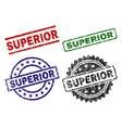 grunge textured superior stamp seals vector image