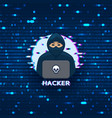 hacker logo template vector image vector image