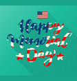 happy memorial day lettering vector image