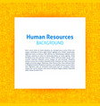 human resources paper template vector image vector image