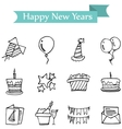 Icon of holiday new years object vector image vector image