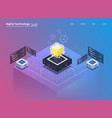 isometric design concept virtual reality vector image vector image