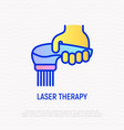 laser therapy thin line icon modern vector image
