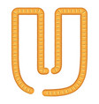 letter u bread icon cartoon style vector image