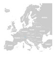 liechtenstein marked by blue in grey political map vector image vector image